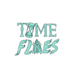 Time Flies Drawing vector image vector image