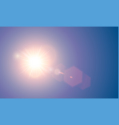 Transparent bright red sunlight special vector