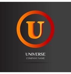 U letter logo abstract design vector