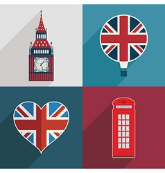 uk decorations vector image vector image
