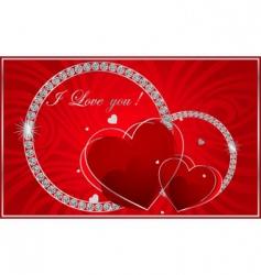 valentines diamonds vector image vector image