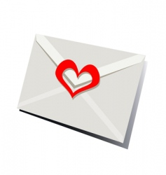 Valentine's letter vector image vector image