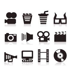 Cinema icons3 vector image