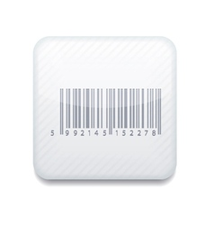 White bar code icon eps10 easy to edit vector
