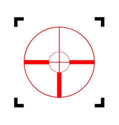 Sight sign   red icon inside vector