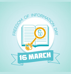 16 march freedom of information day vector