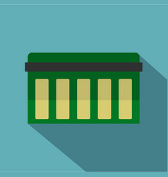 Circuit board technology icon flat style vector