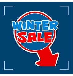 Winter sale - information sign vector