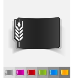 Realistic design element barley vector