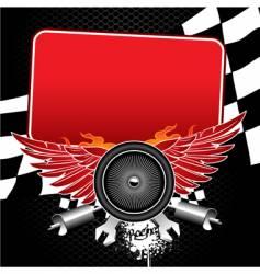 racing banner vector image