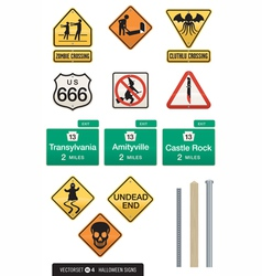 Set of 12 halloween sign s vector