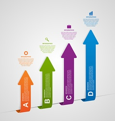 Business options infographics design arrows style vector