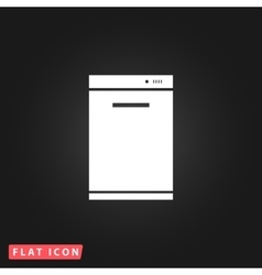 Kitchen - dishwasher icon vector
