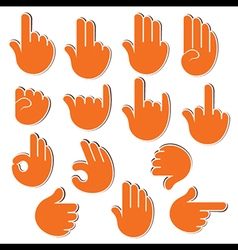 Creative sign or signal show by hand finger vector