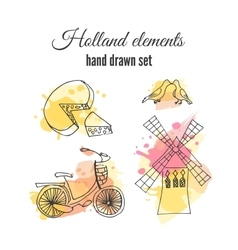 Holland decorative elements netherlands vector
