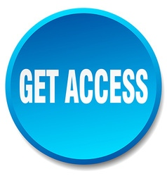 Get access blue round flat isolated push button vector