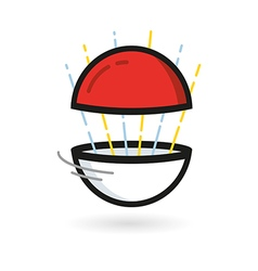 Red Ball Game to Play In The Team vector image