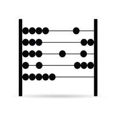 abacus in black vector image