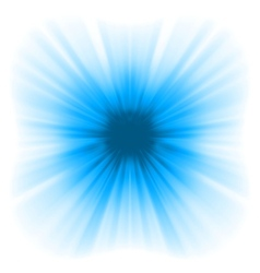 Abstract blue starburst vector image