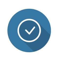 Accept icon confirm button vector