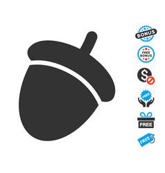 Acorn icon with free bonus vector
