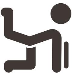 Aerobics icon vector