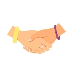 Business women handshake vector