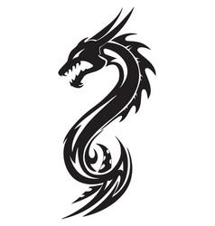 Dragon tattoo vintage engraving vector