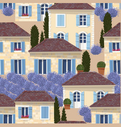 French town seamless pattern vector