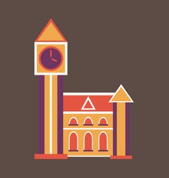 High quality detailed most famous world landmark vector