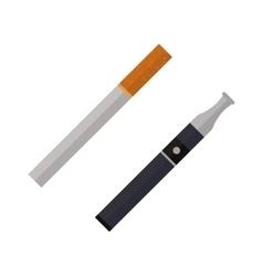 Icon cigarettes design idea and smoke problem vector
