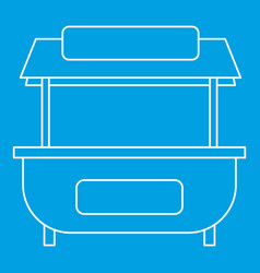 Market stand stall icon outline style vector