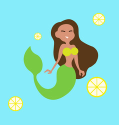 mermaid girl vector image vector image