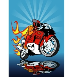 Motorcycle Racing vector image vector image
