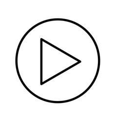play button media menu vector image vector image