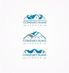 Real estate logohome bundle logoroof logo vector