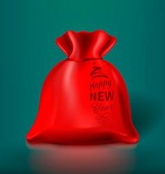 Red Christmas Sack vector image