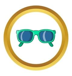 Retro hipster sunglasses icon vector