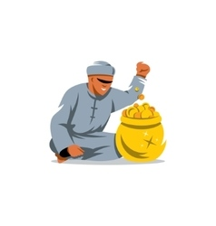 Rich man from the uae cartoon vector
