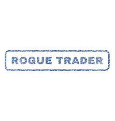Rogue trader textile stamp vector
