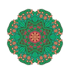Round ornament indian pattern mandala vector