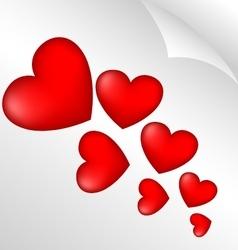 Scarlet heart 3d vector