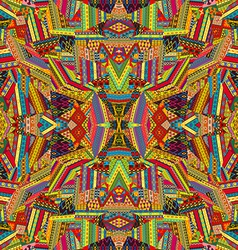 Seamless pattern with colored ethnic motifs vector image