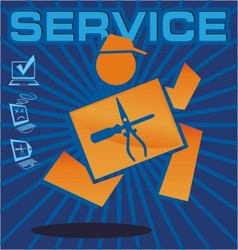 service vector image