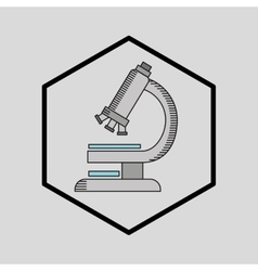 silhouette man science microscope research vector image