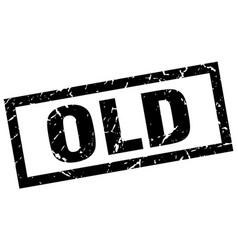Square grunge black old stamp vector