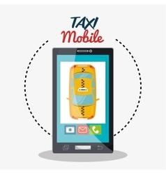Taxi mobile cab service icon design vector