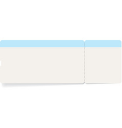 template of boarding pass or train ticket vector image