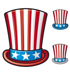 usa top hat vector image