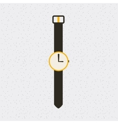 watch time clock hand isolated icon vector image
